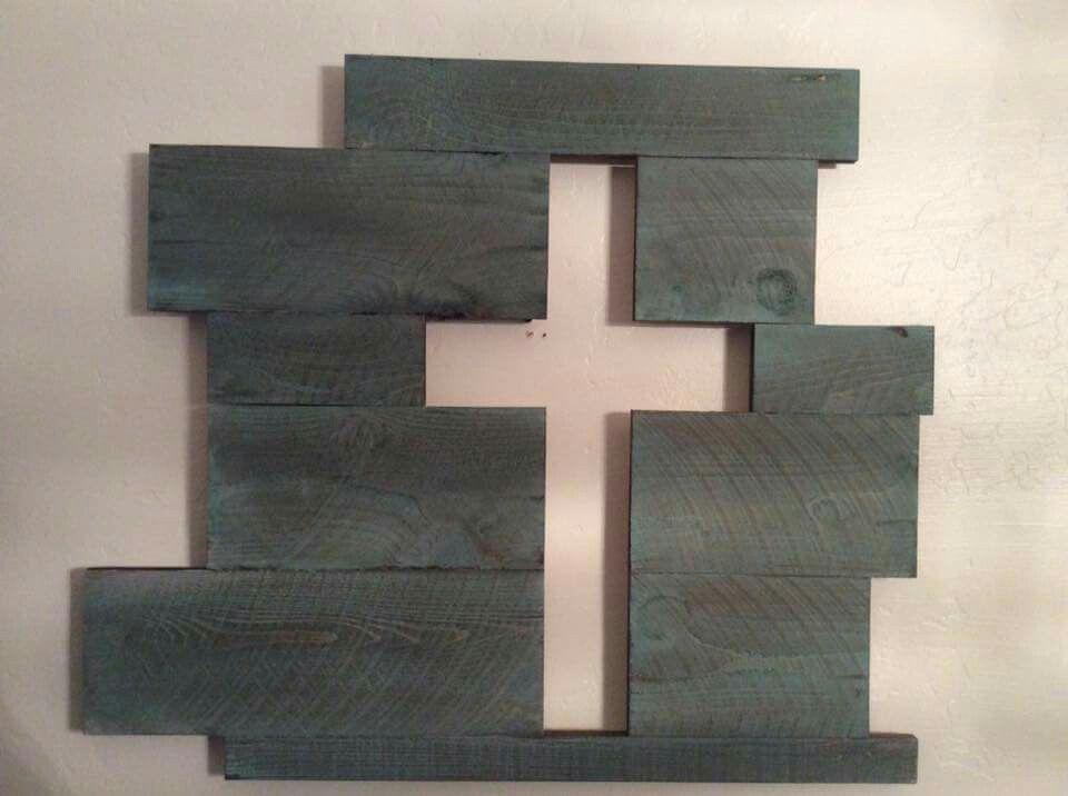 Wood blue cross https://m.facebook.com/rwcustomwoodwork ...