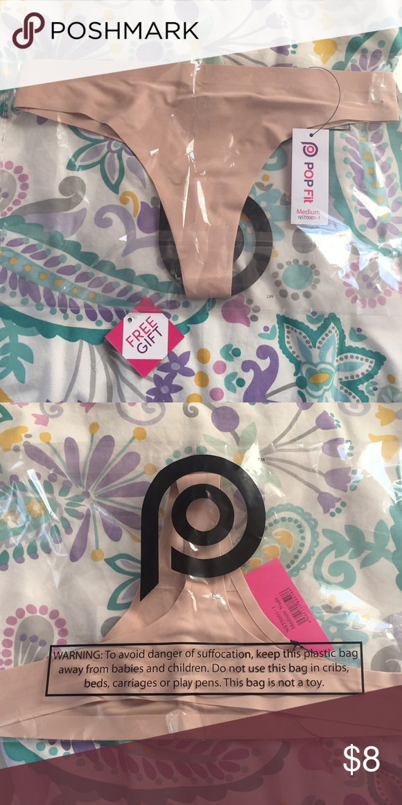 7c128738c6ca Nude Seamless Thong! Nude Seamless Thong! ✅Brand new, never worn, tag still  attached ➖Size Medium ➖Seamless/no-show POPFit Intimates & Sleepwear Panties