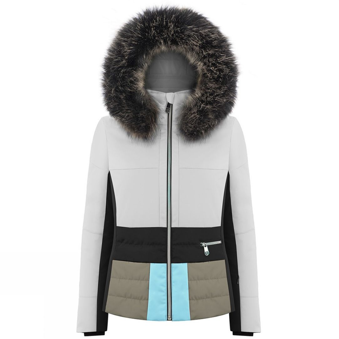 c327eb64c2 Poivre Blanc Womens Katrina Faux Fur Jacket