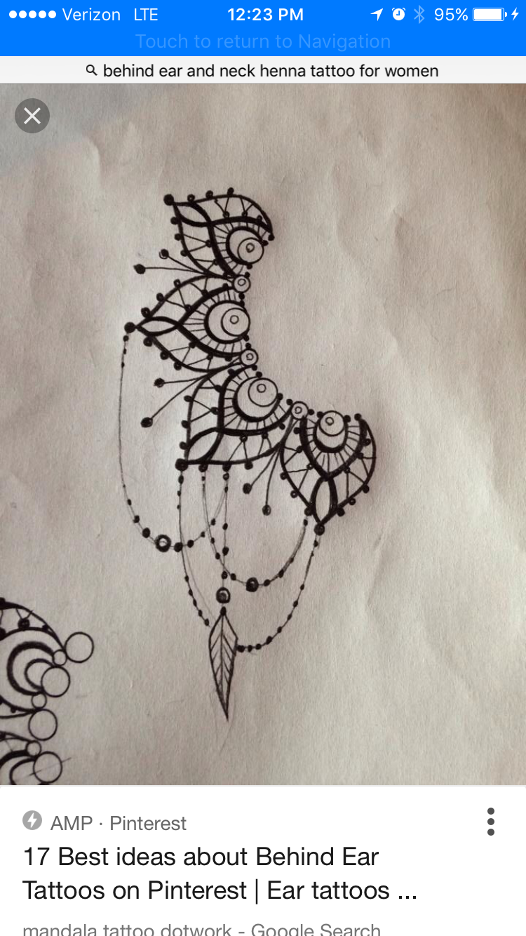 21756a260 Behind ear henna or tattoo ideas | Henna Art | Mandala arm tattoos ...