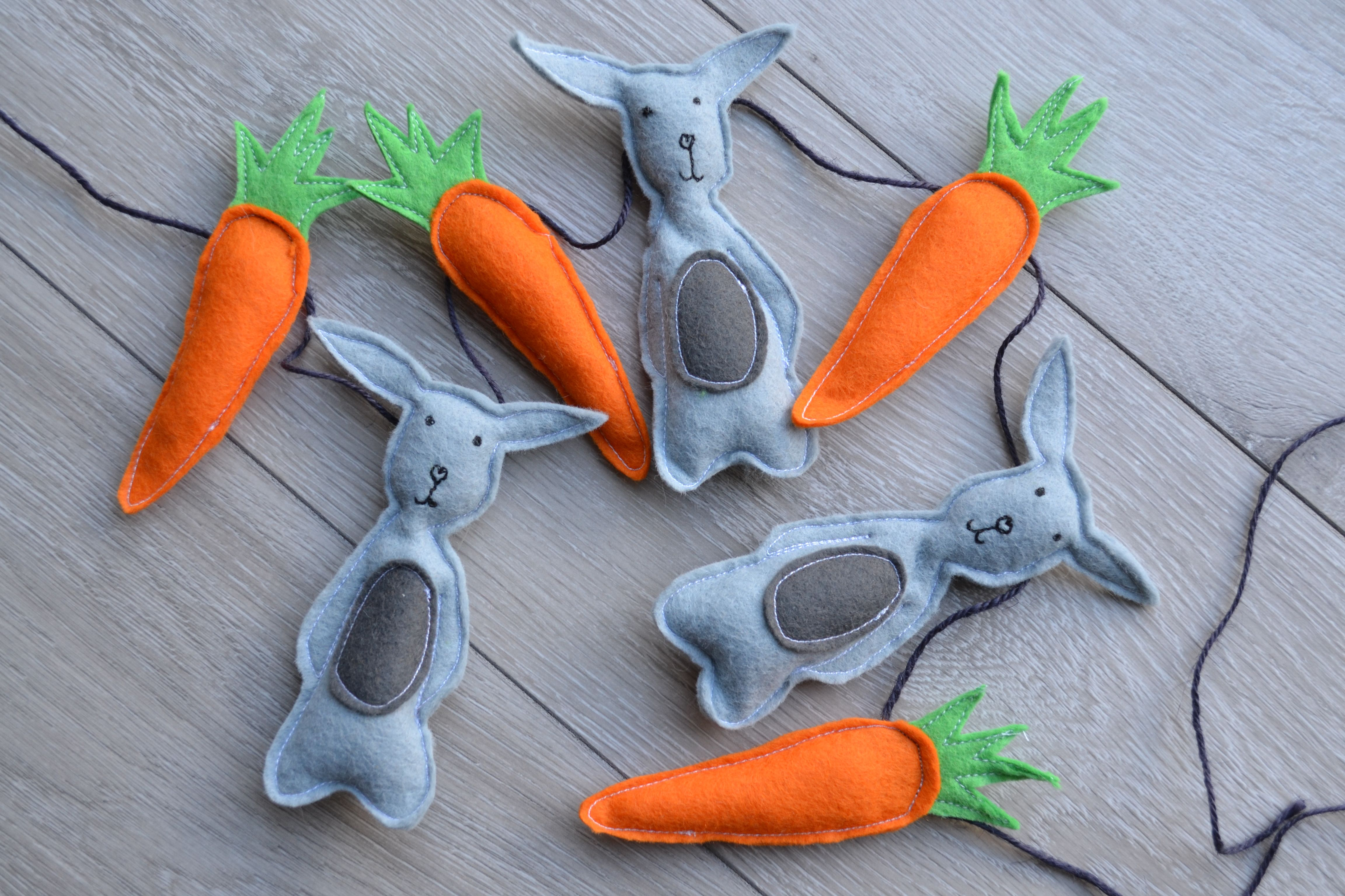 Easter felt bunting rabbits with carrots creative home ideas buy handmade gifts and personalised accessories directly from uk makers and designers negle Choice Image