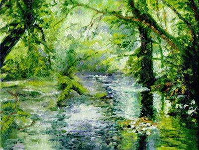 Rainforest Painting - Google Search | Lighting - Exterior ...
