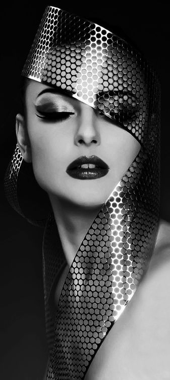 High Fashion Black And White Photography Makeup