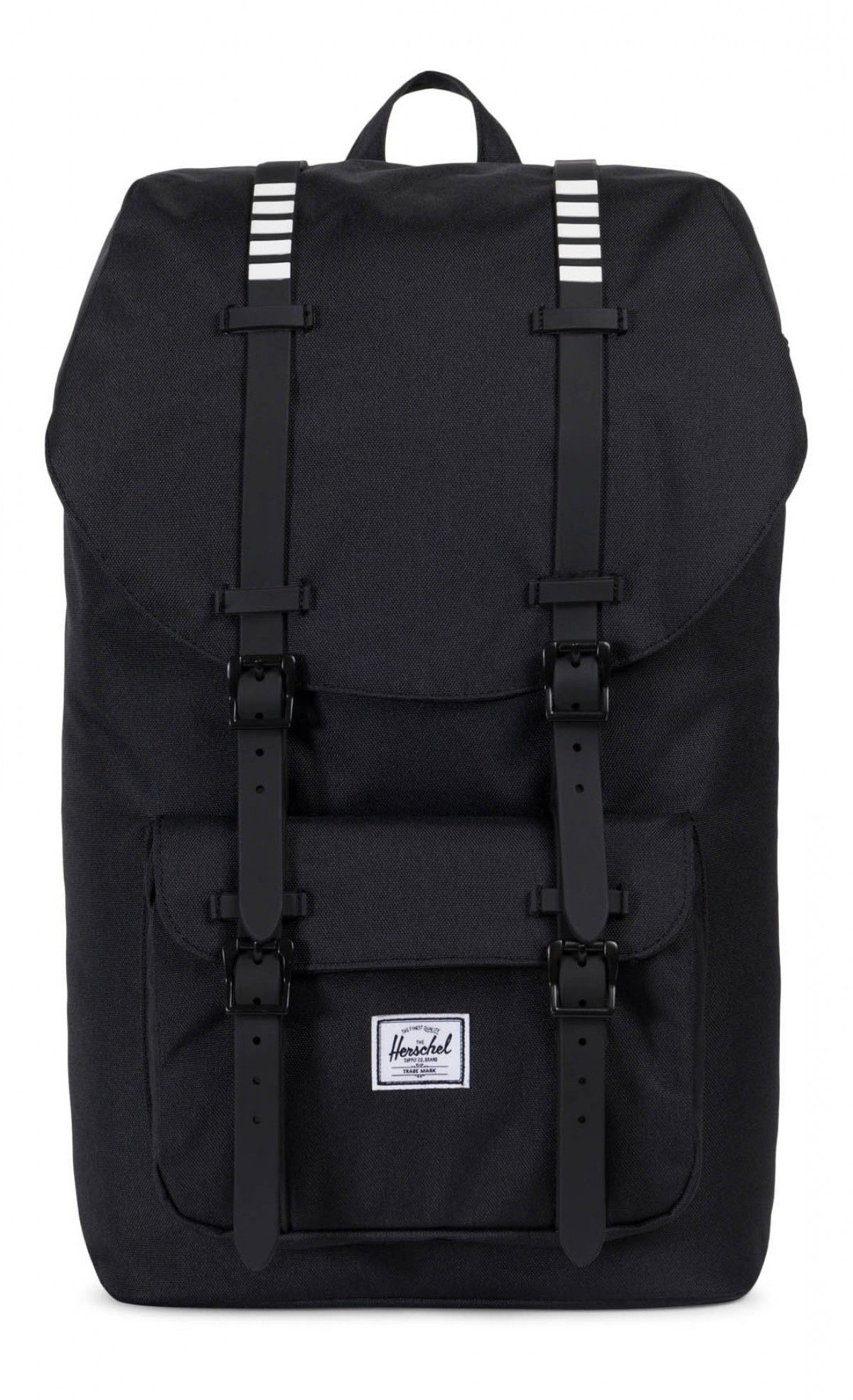 2e4f1f87e568 Herschel Little America Backpack Poly Rubber Black Black White Inset ...