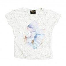 Ebony fish T-shirt  Heather white