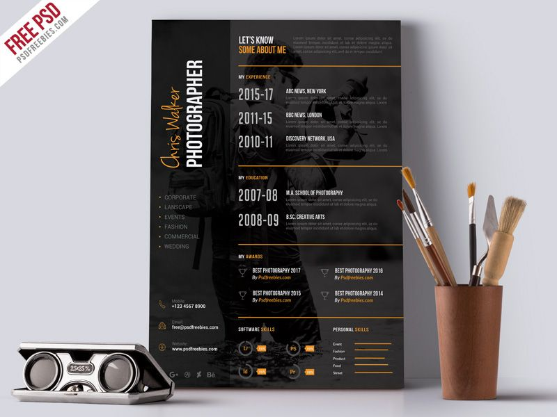 photographer cv template free download