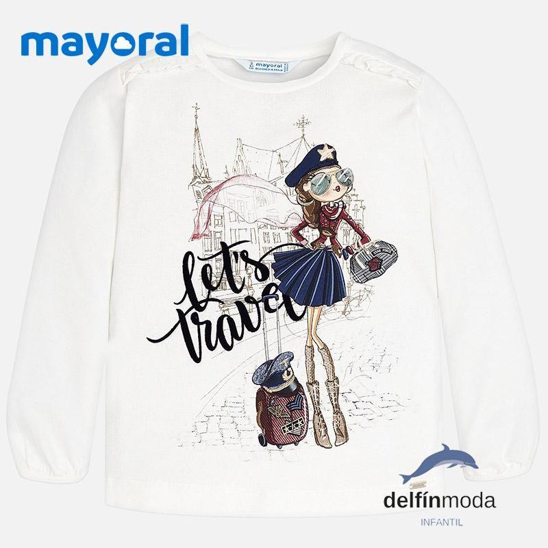 Mayoral Camiseta de Manga Larga para Ni/ñas