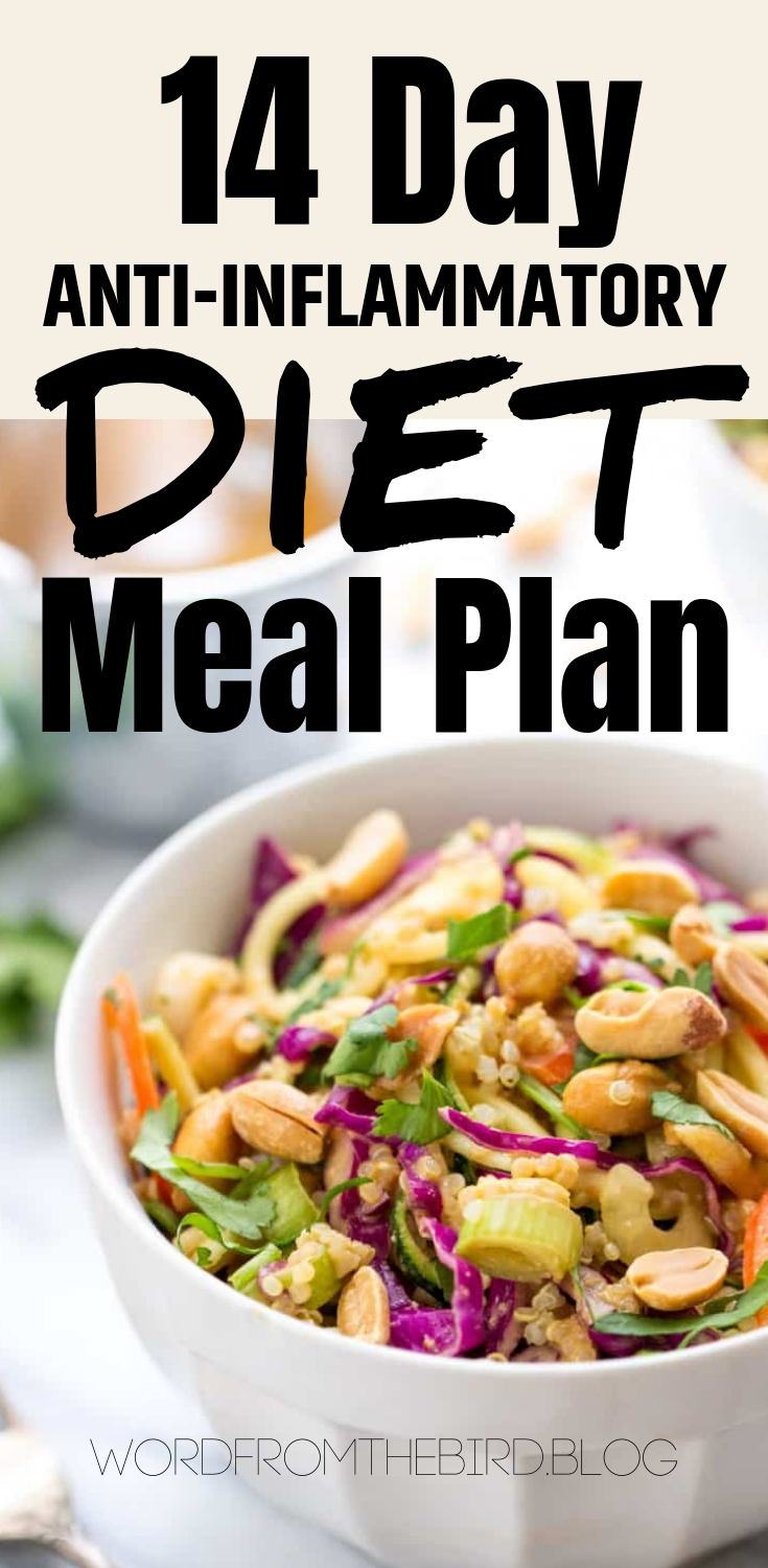 2 Week Anti Inflammatory Meal Plan Breakfast Lunch And Dinner Recipes Word From The Bird Anti Inflammatory Diet Meal Plan Anti Inflammatory Diet Recipes Diet Meal Plans