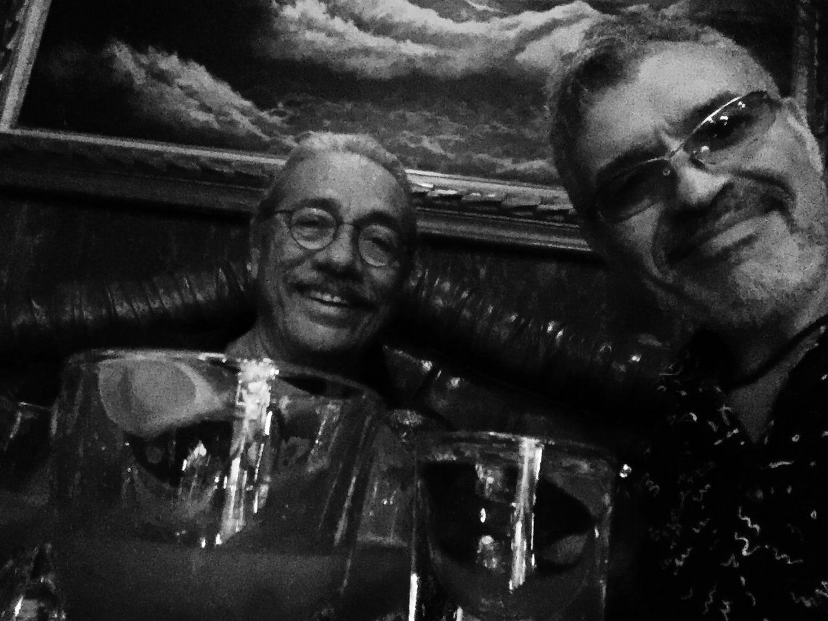 Dennys Ilic  - How do u turn #ELCompadre upside down? Turn up with Legend @edwardjolmos & @AlexB247_ 😂  Post @CinematicPix hangout!