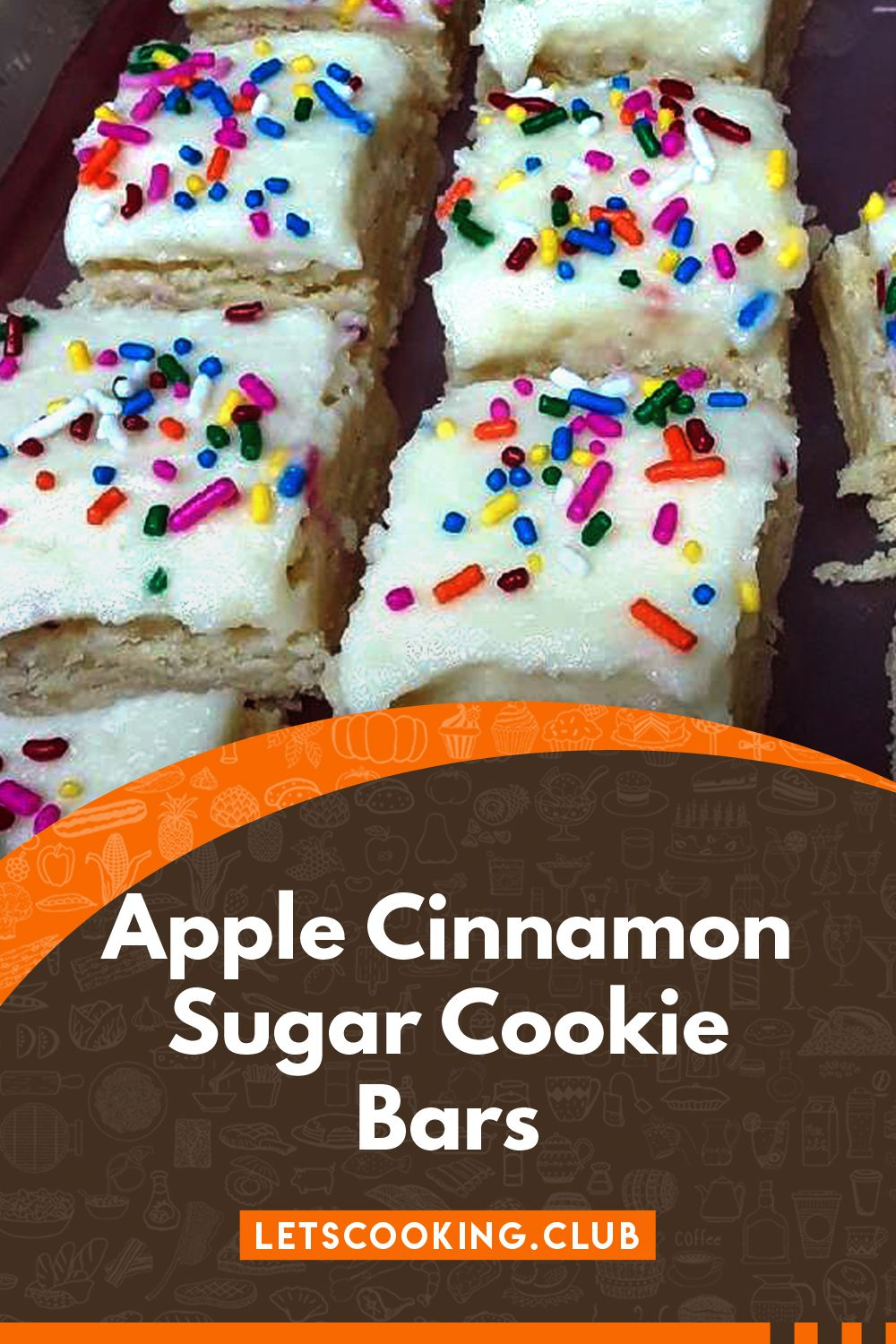 Apple Cinnamon Sugar Cookie Bars #cinnamonsugarcookies