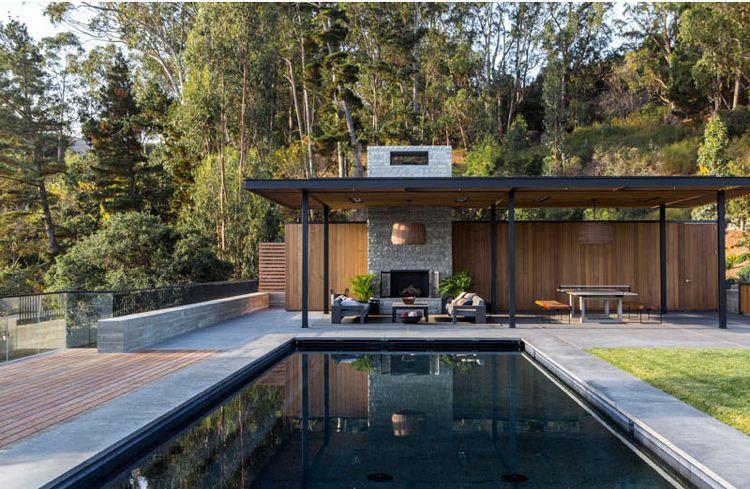 Holz innen und außen \u2013 Modernes Haus an der Ozeanküste Kaliforniens