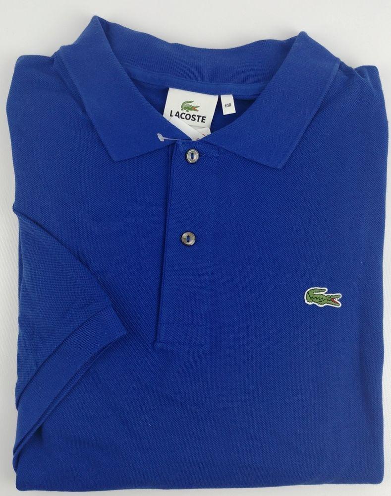 low priced 6612d 4281b Lacoste Men Size 3XL Blue Big Fit Short Sleeve Polo Shirt ...
