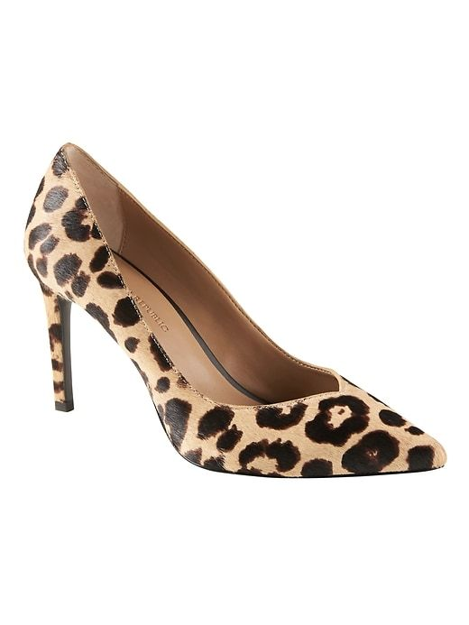 d2e804a8ab1 Banana Republic Womens Madison 12-Hour Pump Leopard Haircalf Leather ...