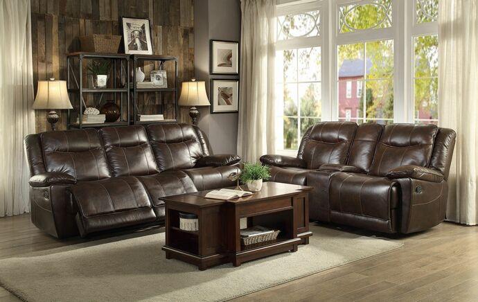Home Elegance 8414dbr Sl 2 Pc Wasola Collection Dark Brown