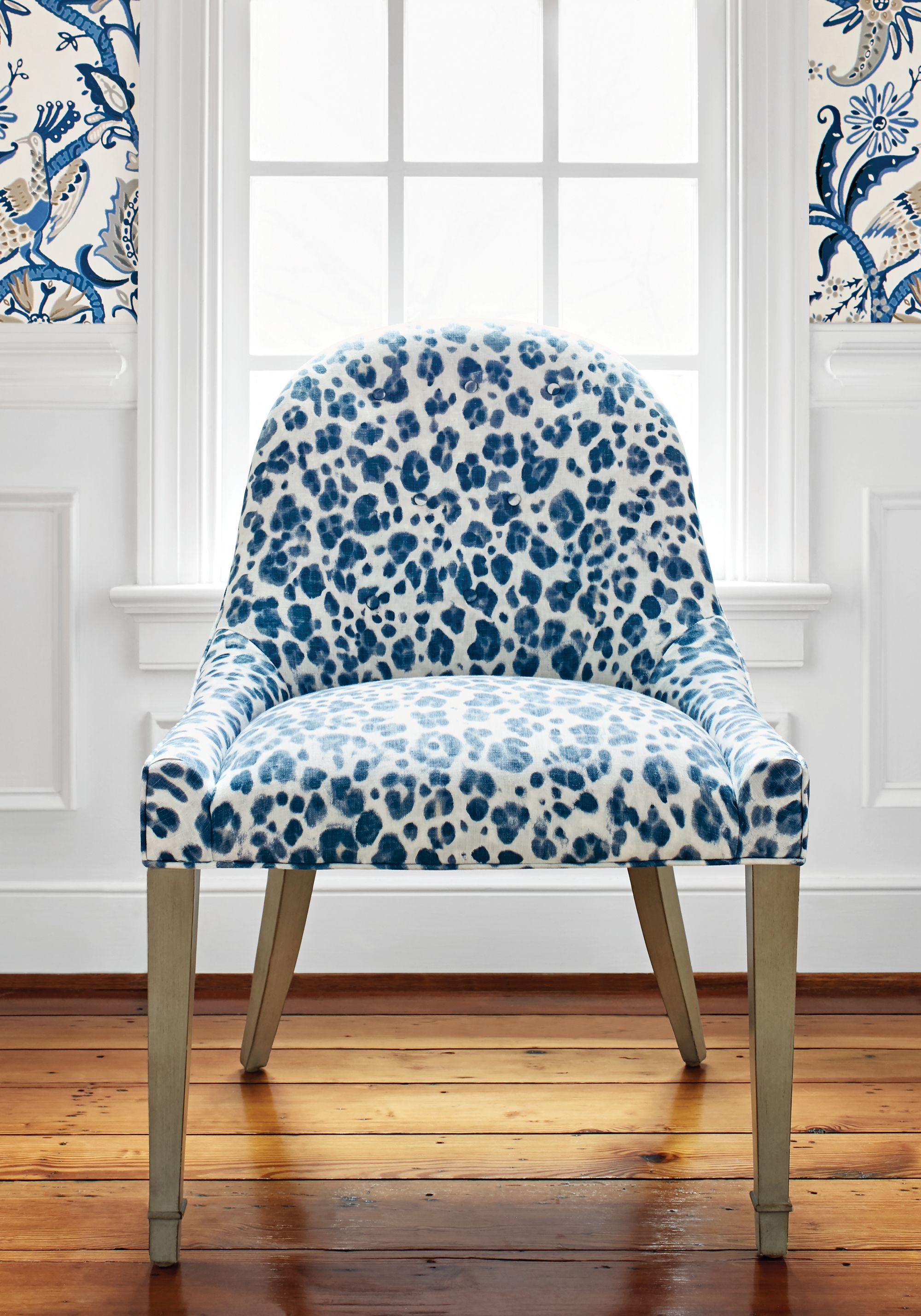 Melrose Dining Chair from Thibaut Fine Furniture in Panthera in Navy ...