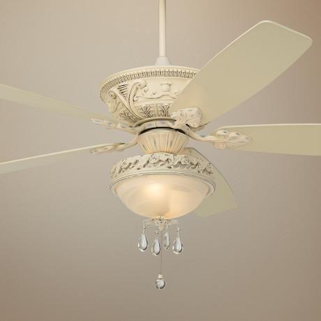 Casa Vieja Ceiling Fans 60 Mentego Rubbed White Finish Fan R4086 R4090