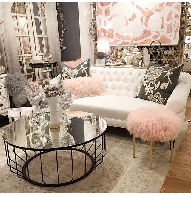 Glam Living Room: Might Need To Add A Grey Wall To My Closet Room