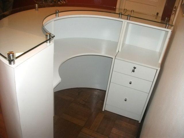 Muebles de recepciones para oficinas modernos mr muebles for Muebles oficina cristal