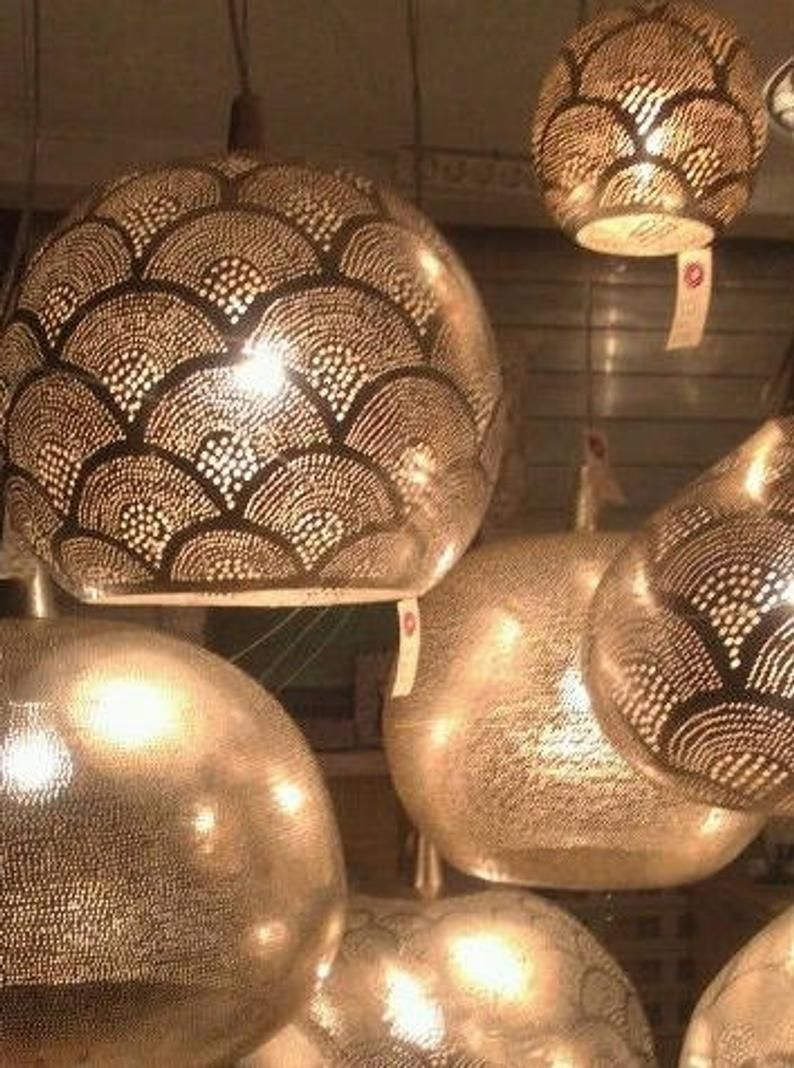 Messing Hangende Lampen 4 Maten Kleine M Large Arabische Image 4 In 2020 Hanging Lamp Lamp Brass Pendant Light