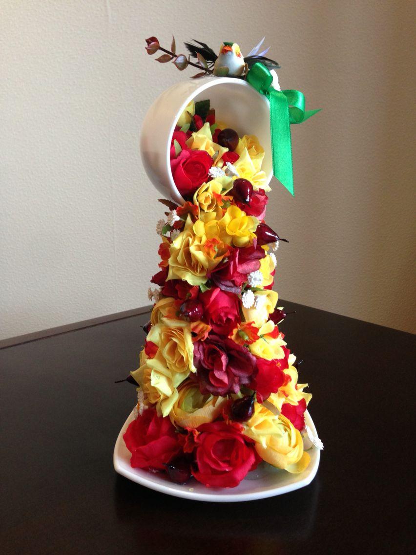 Цветы из чашки