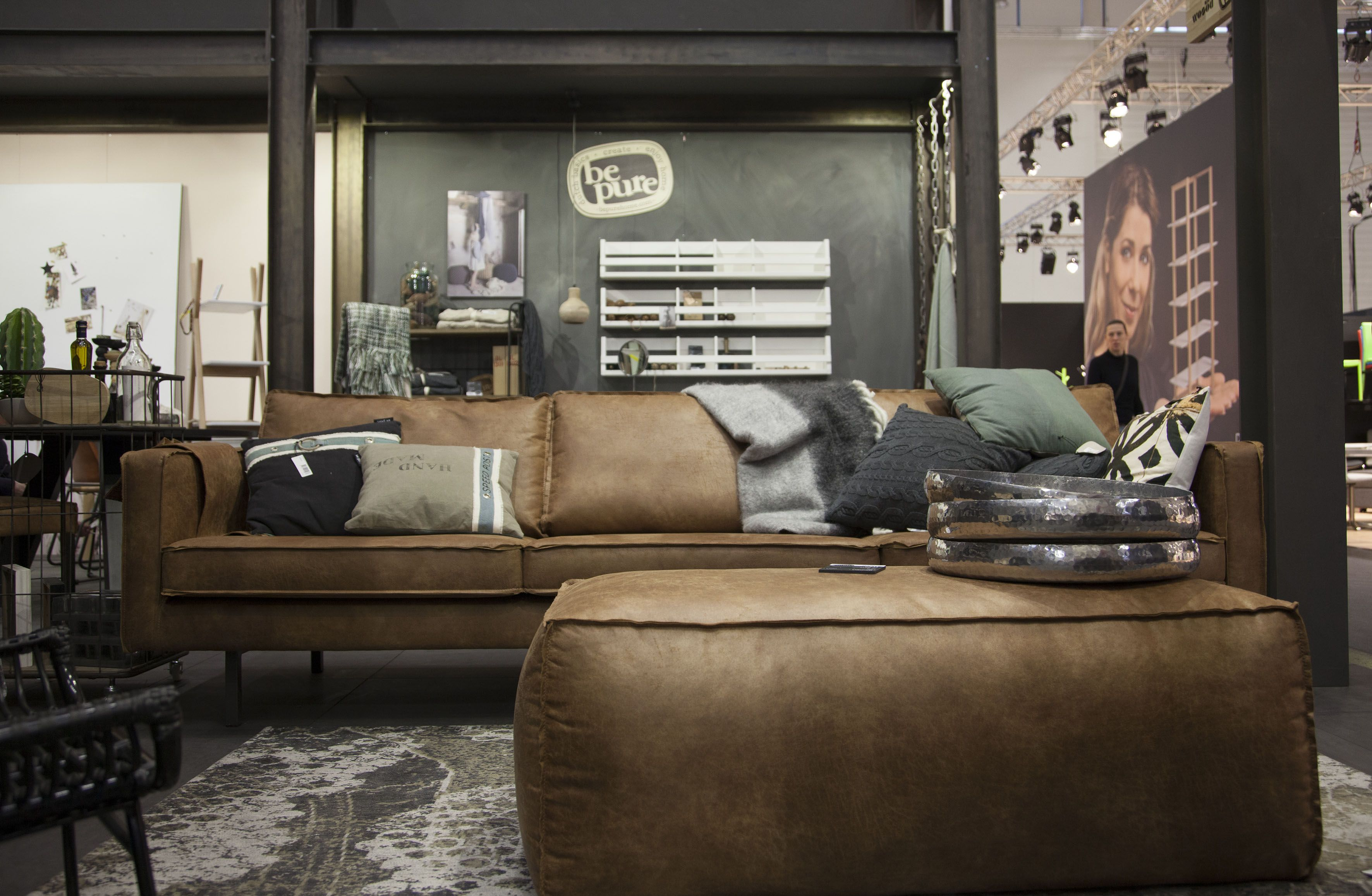 bepurehome #imm2015 #immcologne2015. our leather rodeo sofa and, Wohnzimmer dekoo
