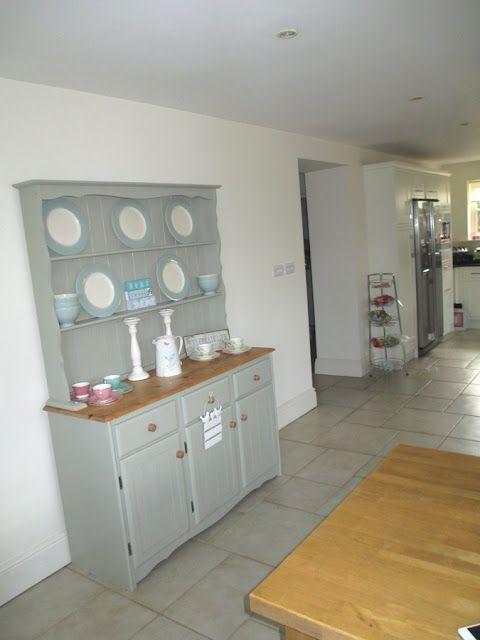 Best Farmhouse Kitchen Dresser In Farrow Ball French Grey 400 x 300