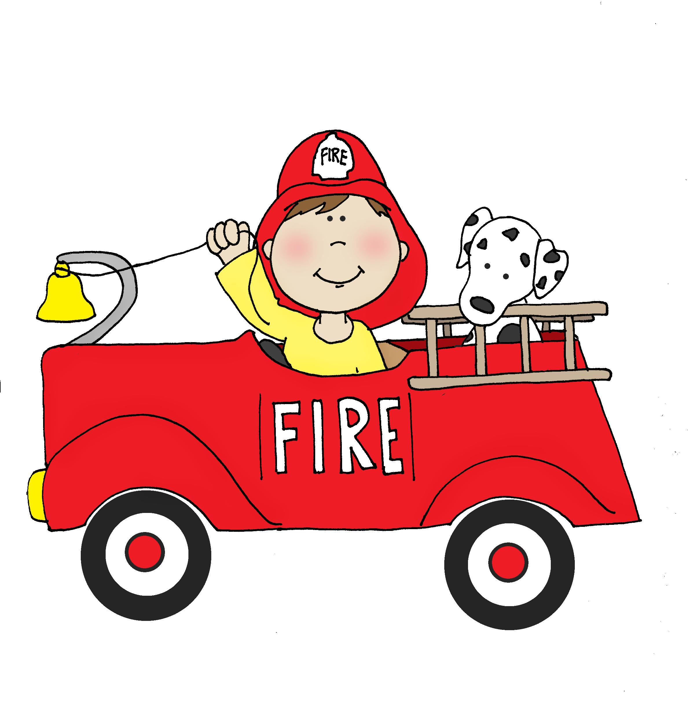 Firetruck Boy Digi Stamps Fire Truck Drawing Digital Stamps