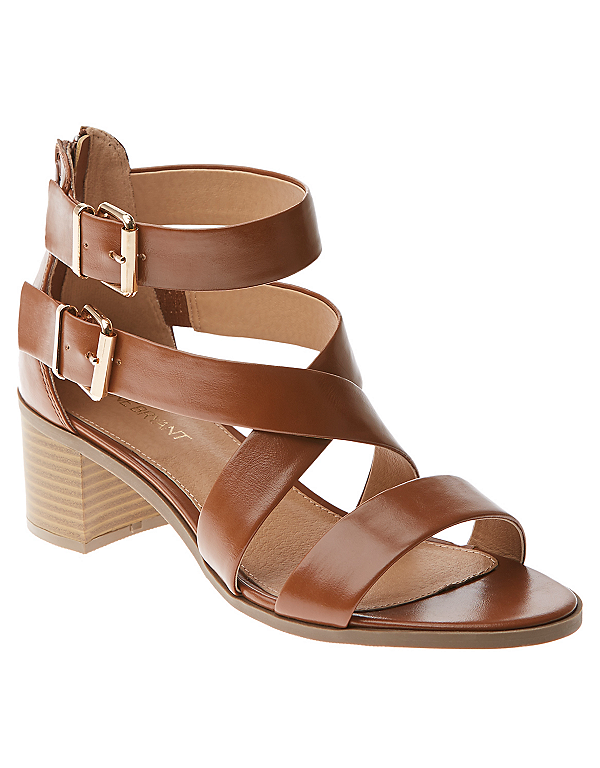 Wide width heeled sandal by Lane Bryant | Lane Bryant