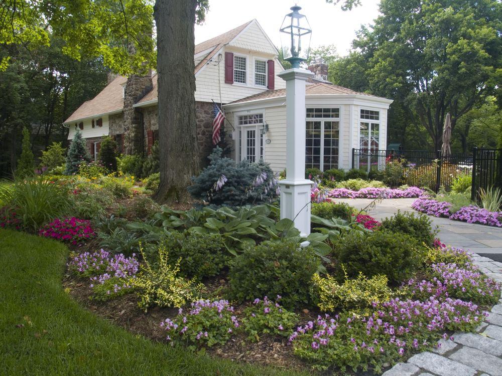 Front yard landscape design bergen county nj front