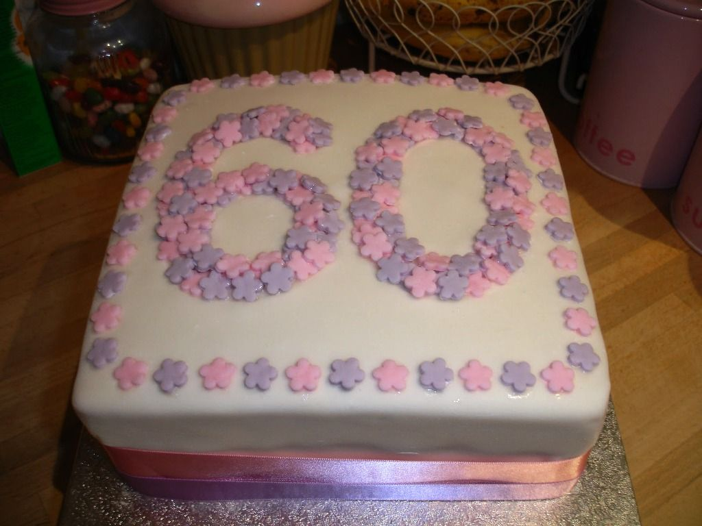 Square 60th Birthday Cake Ideas For Women
