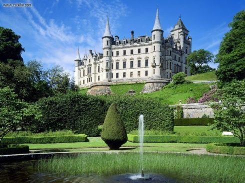 Dunrobin Castle is a stately home in Sutherland, in the Highland area of Scotland, United Kingdom, and the seat of the Countess of Sutherland and Clan Sutherland. It is close to the A9 road, and to a Far North Line railway station, which is named for the castle.#Repin By:Pinterest++ for iPad#