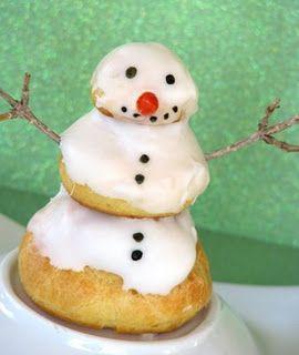 la religieuse revisitée bonhomme de neige régal hivernal avec