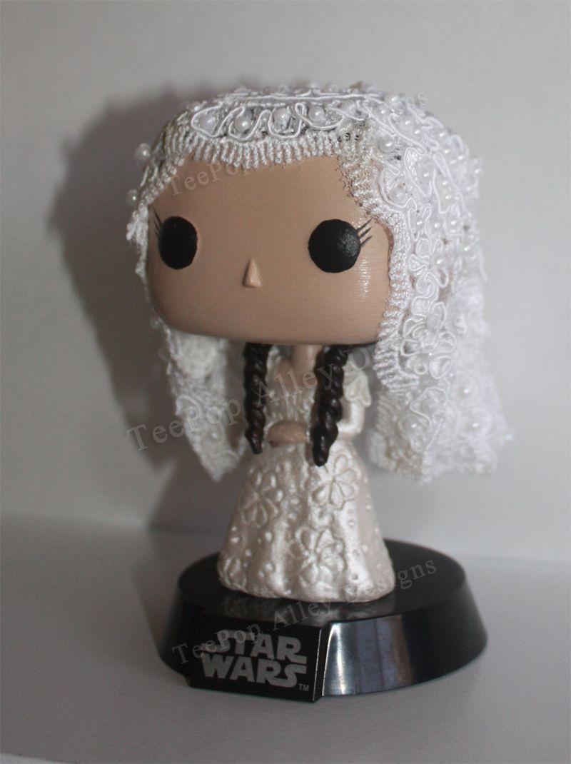Teepop Alley Designs Star Wars Padme In Her Wedding Dress Star Wars Padme Custom Pop Vinyl Star Wars Action Figures