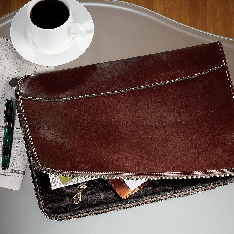 Briefolio   Leather Portfolio, Menu0027s Briefcase, Leather Briefcase   Leather  Resume Folder  Leather Resume Folder