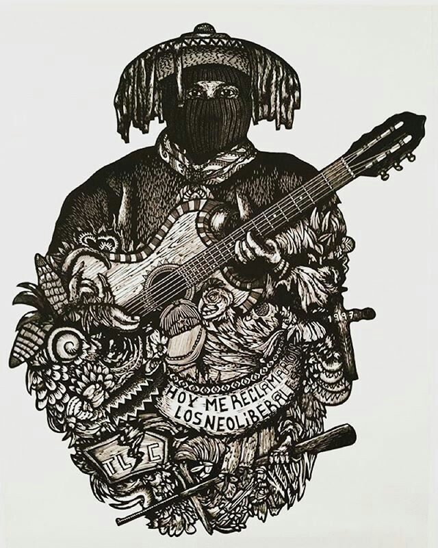 Ezln Chiapas Arte De Protesta Revolucion Arte Arte De Ilustración