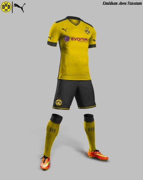 f283db509 Borussia Dortmund 15/16 Home Kit Design | Football | Borussia ...