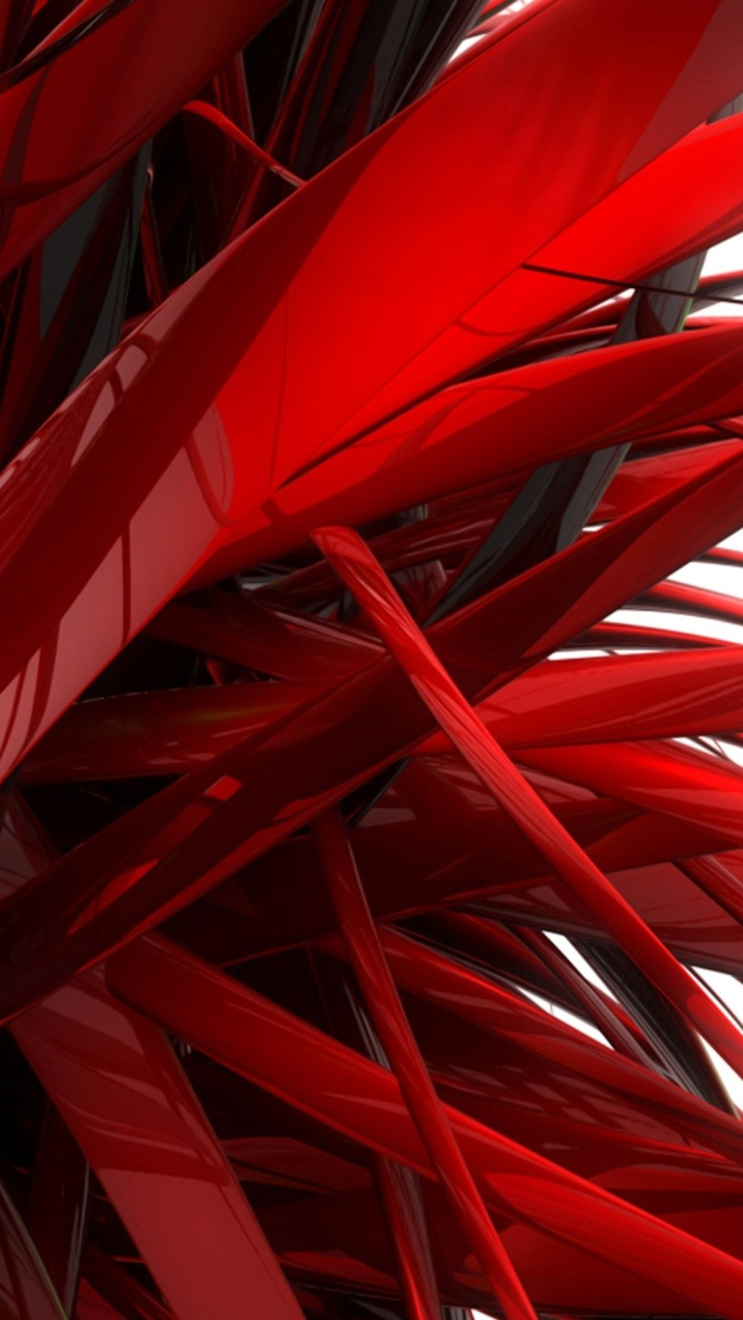 Wallpaper Download 1080x1920 Red Lines Abstract Awesome 3d And