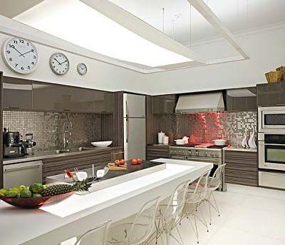 cocina moderna con isla y mesa cocina y reposteros decoracin fotos y videos