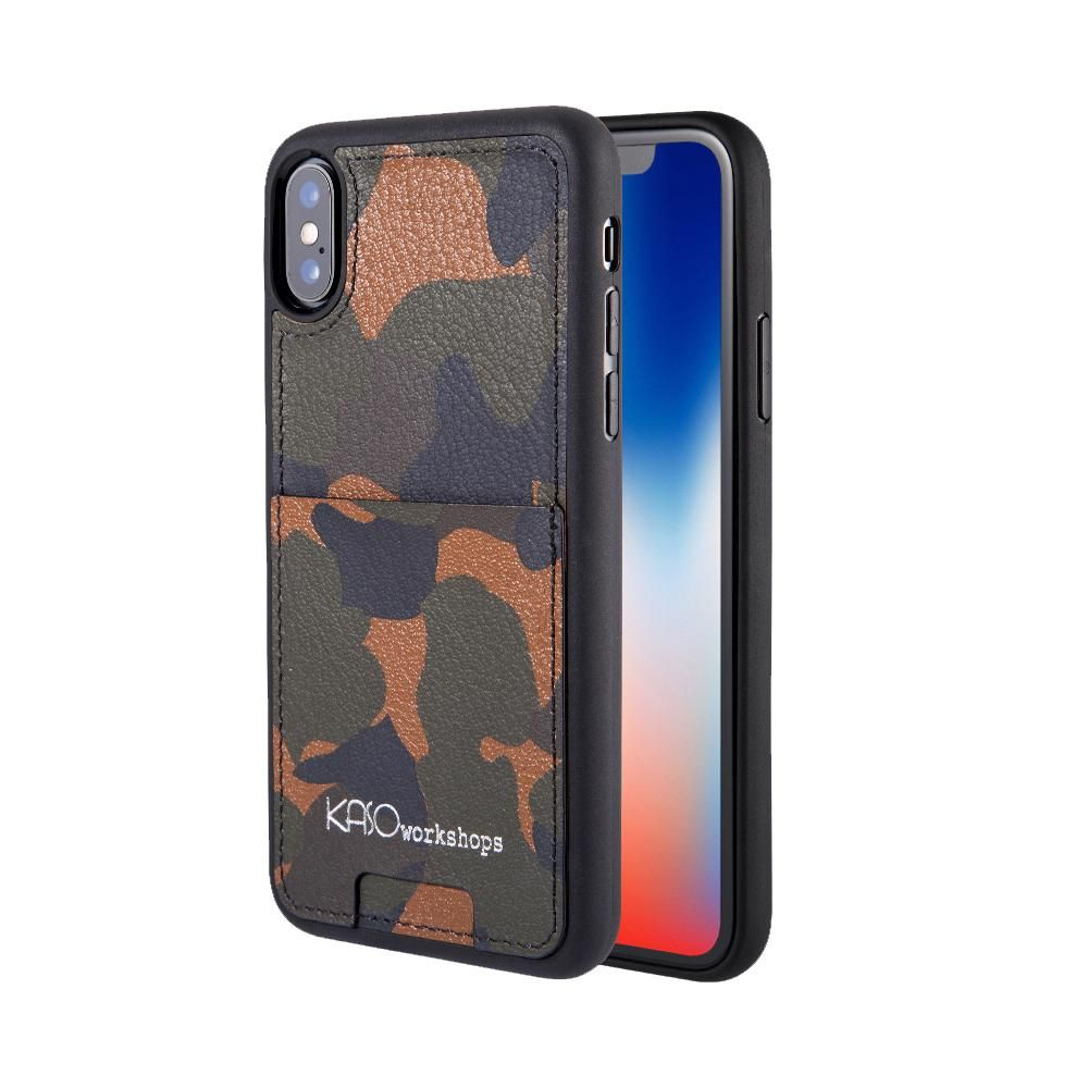 Camo genuine leather cases iphone leather case leather