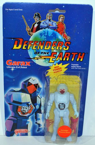 K106. Defenders of the Earth: Garax - Ultimate Evil Robot Action Figure