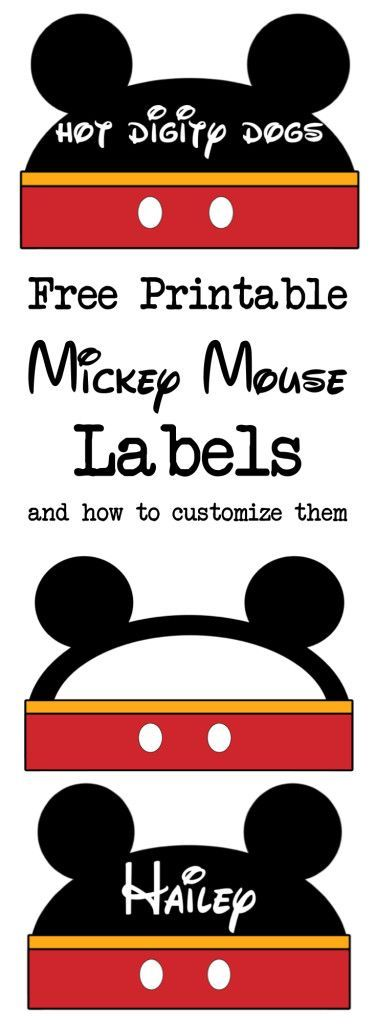 Mickey Mouse Clubhouse Juice Labels Printable Sticker Label Mickey Mouse Birthday
