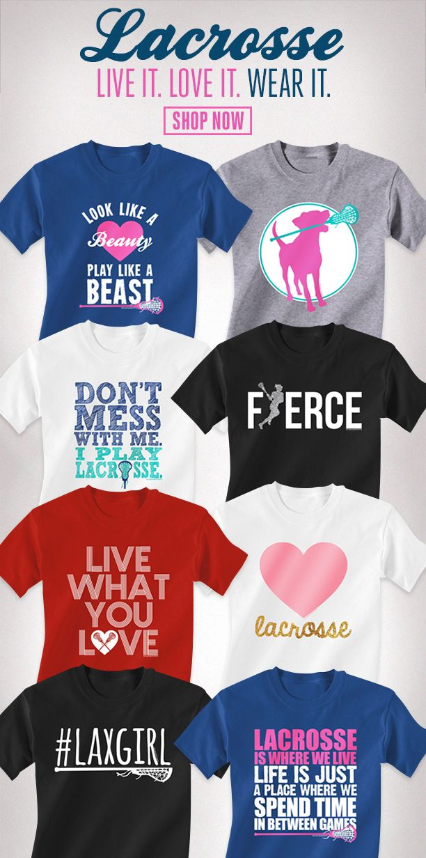 fb59ceca9 Girls Lacrosse Tees! The best lax tees for all lax girls #lacrosse ...