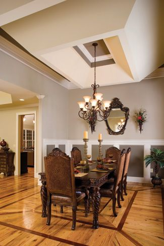 Reverse Tray Ceiling Google 搜尋 House Design Dining Table Decor House Plans