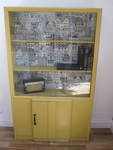Vintage Retro 1950's Glass Door Display Cupboard Cabinethall Simple Modern Dining Room Display Cabinets Inspiration Design