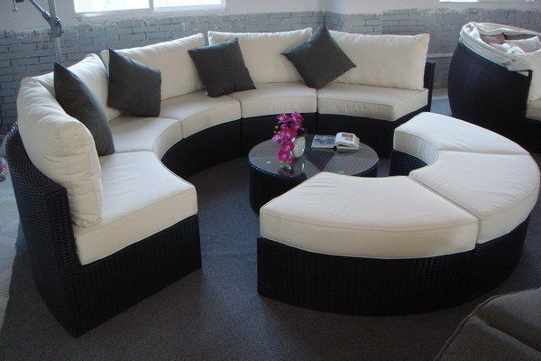 large round curved sofa sectional | Round Sectional : circle sectional couch - Sectionals, Sofas & Couches