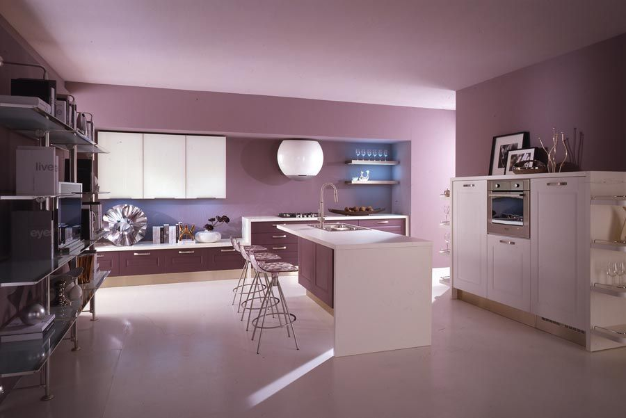 Pink Kitchen Decor remarkable light violet color house (12) | my purple interior home