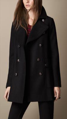 Oversize Felted Wool Pea Coat