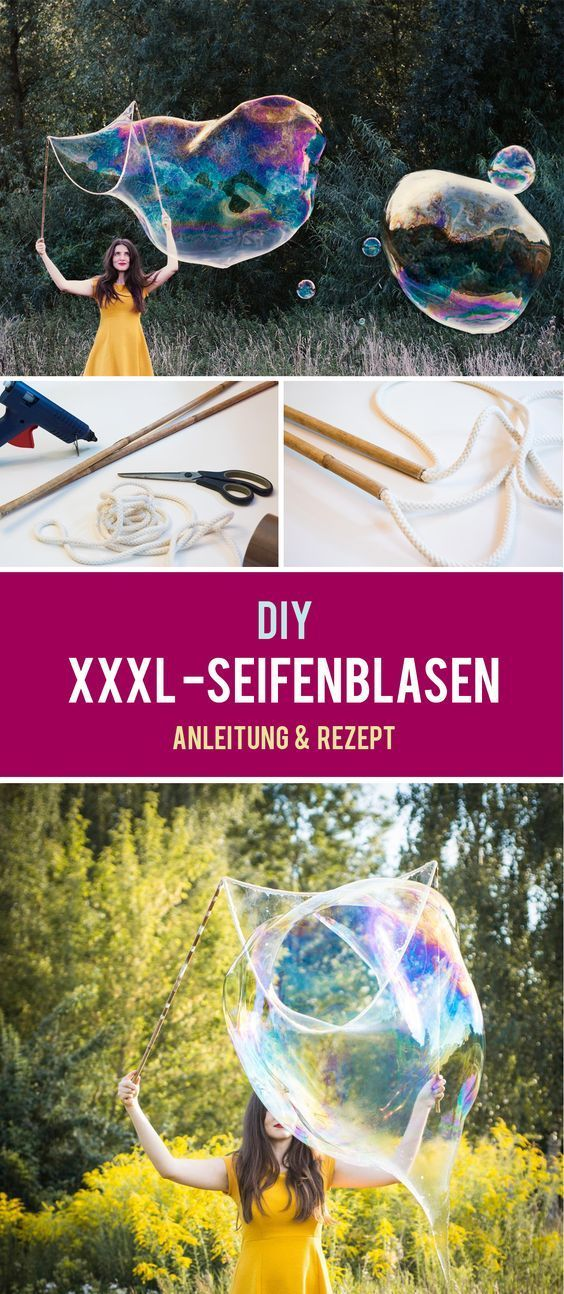 riesenseifenblasen diy diy party deko rezepte. Black Bedroom Furniture Sets. Home Design Ideas