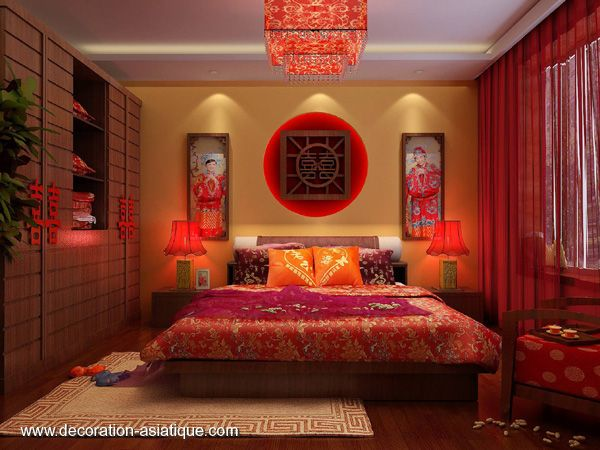 D co int rieur asiatique selon le feng shui la chambre for Agencement chambre adulte