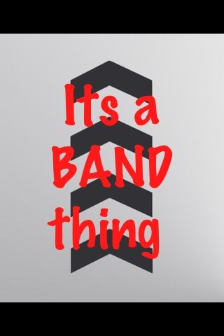 It's a mixture of all the bands I like